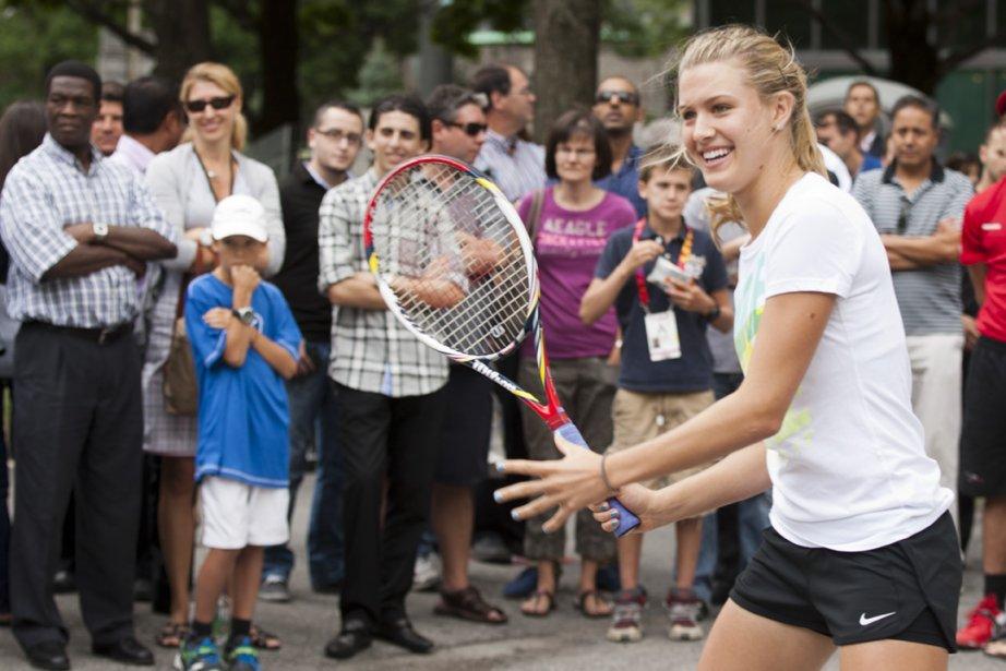 La Québécoise Eugénie Bouchard, gagnante du Wimbledon junior,... (Photo : Ninon Pednault, La Presse)