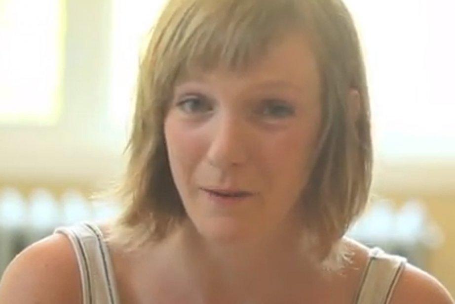 Catherine Dorion, candidate d'Option nationale dans Taschereau.... (Photo tirée de la vidéo)