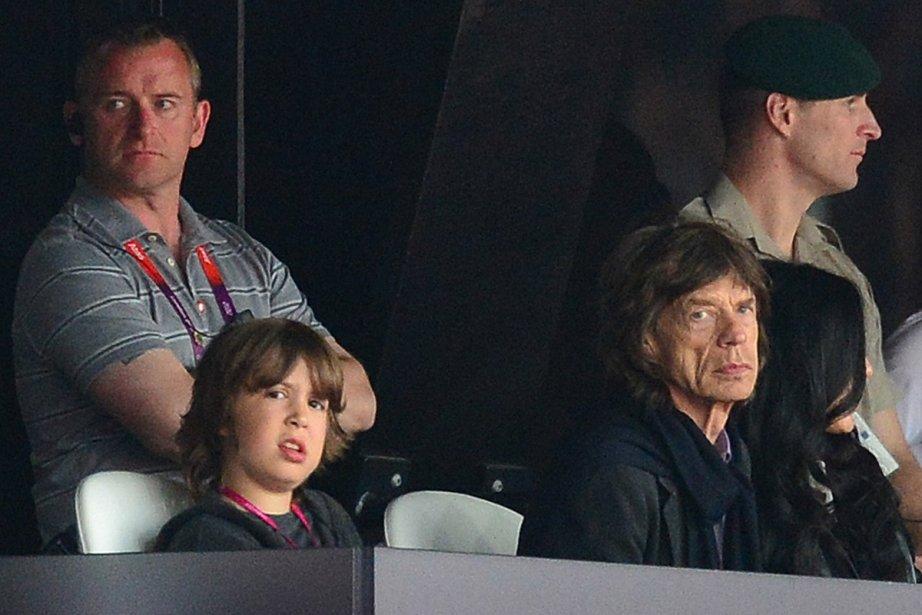 Mick Jagger et son fils Lucas aux Jeux... (Photo: AFP)