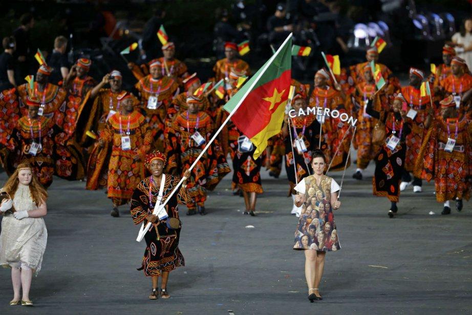 La délégation du Cameroun lors de la cérémonie... (Photo: Reuters)