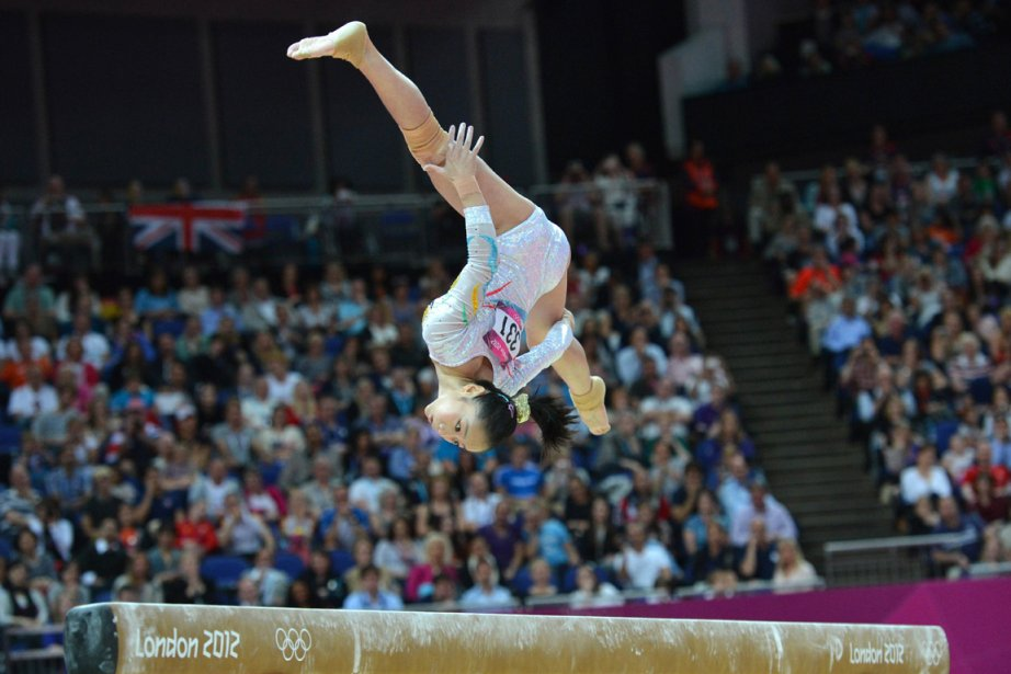 La gymnaste chinoise Deng Linlin a été sacrée championne olympique à la poutre. | 7 août 2012