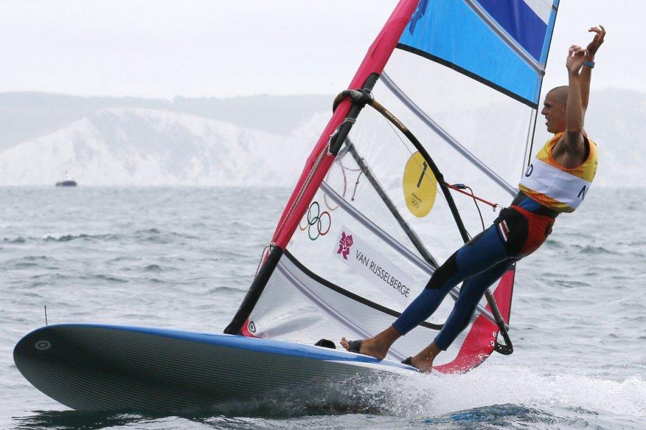Le Néerlandais Dorian Van Rijsselberge a été sacré champion olympique de planche à voile. | 7 août 2012