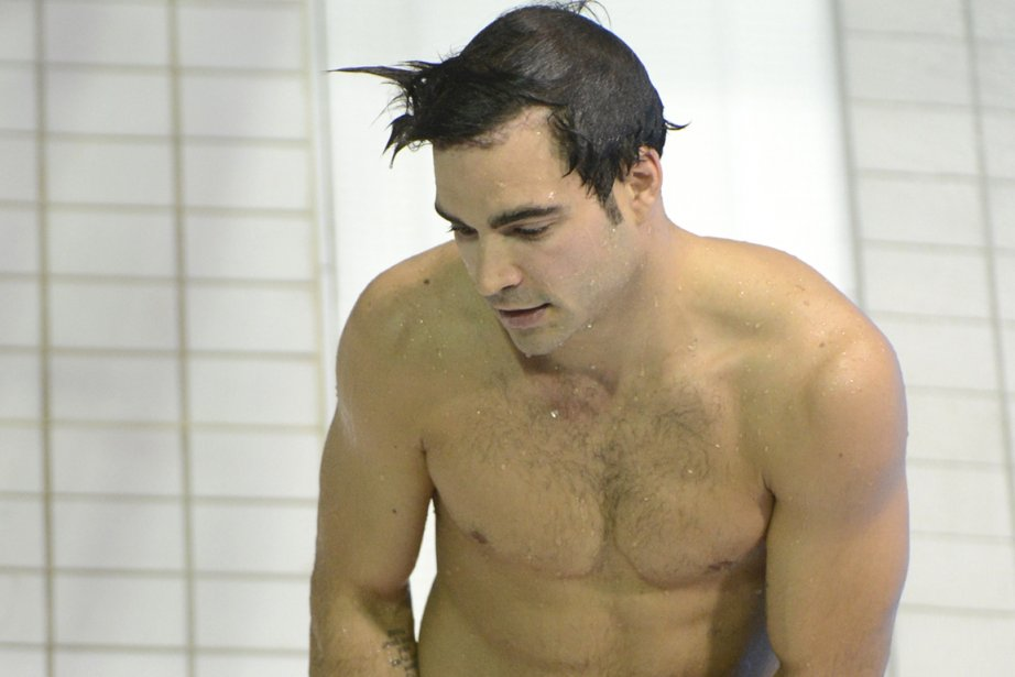 À son dernier plongeon, hier, Alexandre Despatie est... (Photo: Bernard Brault, La Presse)