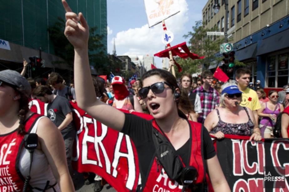 Techniquement, les étudiants qui étaient en grève lors... (Photo: Robert Skinner, archives La Presse)