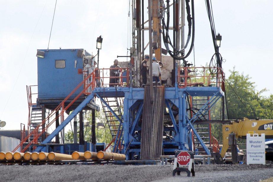 Exploitation du gaz de schiste aux États-Unis.... (Photo AP)