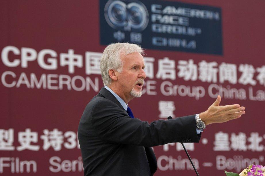 James Cameron lors de son passage en Chine.... (Photo: AFP)