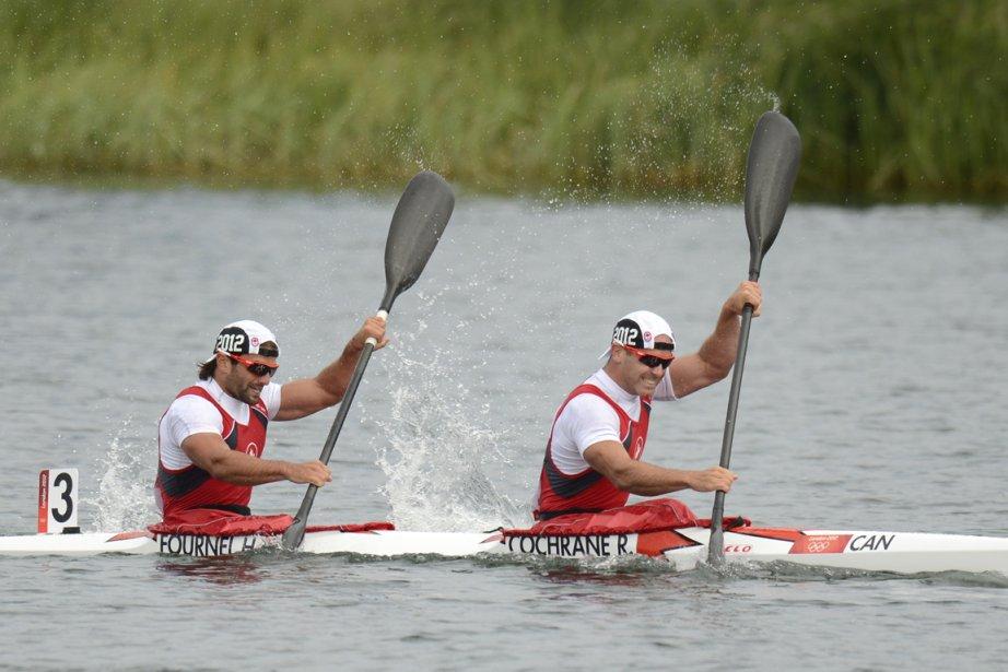 Ryan Cochrane et Hugues Fournel ont terminé à 5,730 secondes du duo danois, vainqueur de la course K2-1000 m. | 8 août 2012