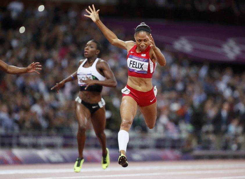 L'Américaine Allyson Felix a gagné l'or au 200 m. | 8 août 2012