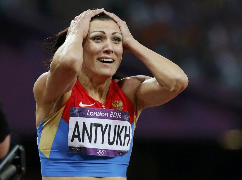La Russe Natalya Antyukh a remporté l'or au 400 m haies. | 8 août 2012