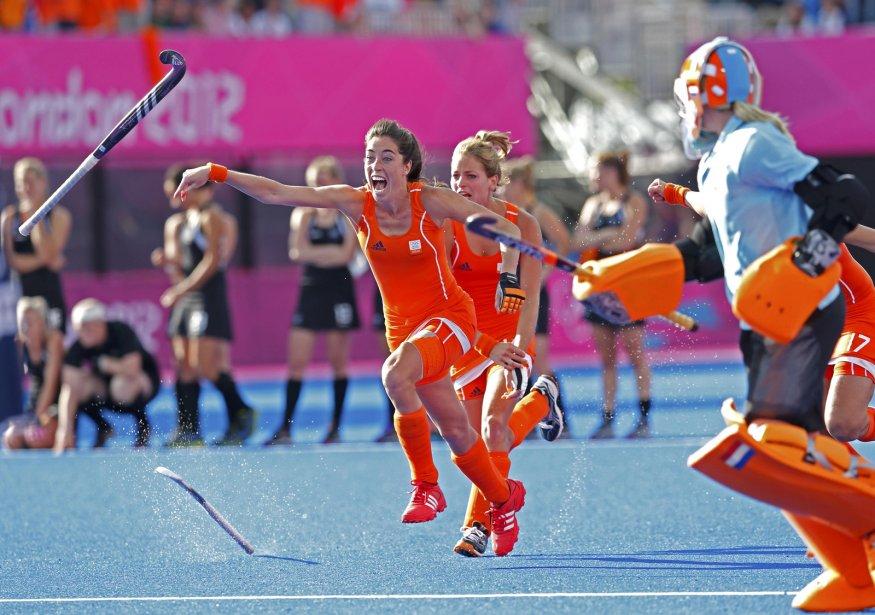 Les Néerlandaises ont battu les Néo-Zélandaises pour atteindre la finale du tournoi de hockey sur gazon. | 8 août 2012