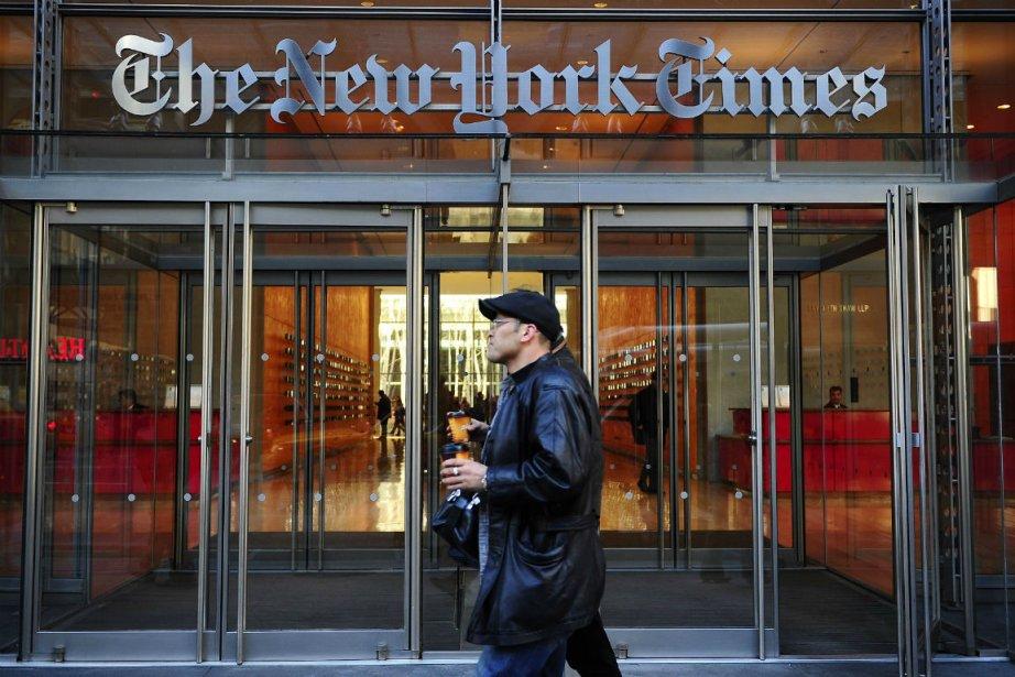 Le New York Times a annoncé mercredi qu'il était en discussions... (PHOTO AFP)