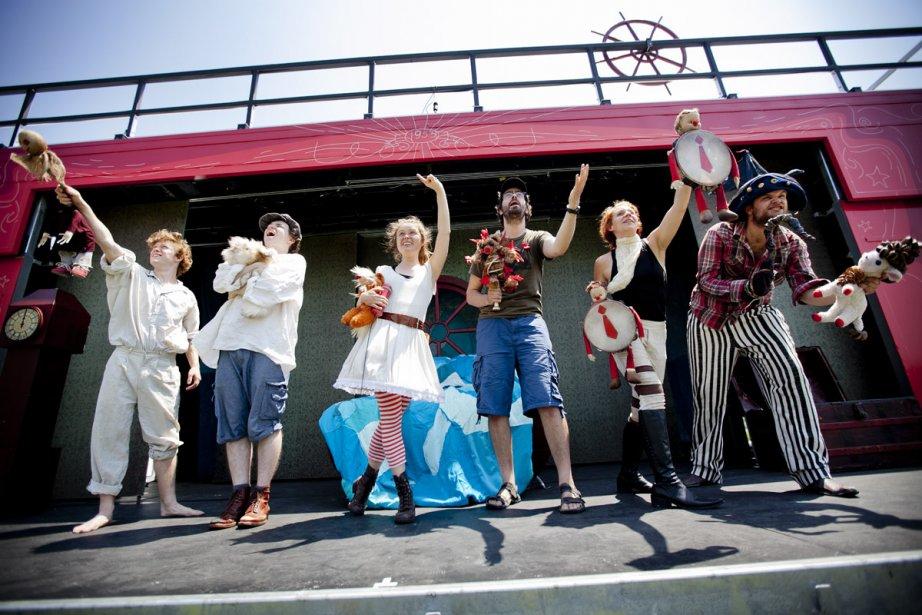 Les artisans du Théâtre de la Roulotte présentent... (Photo: Marco Campanozzi, La Presse)