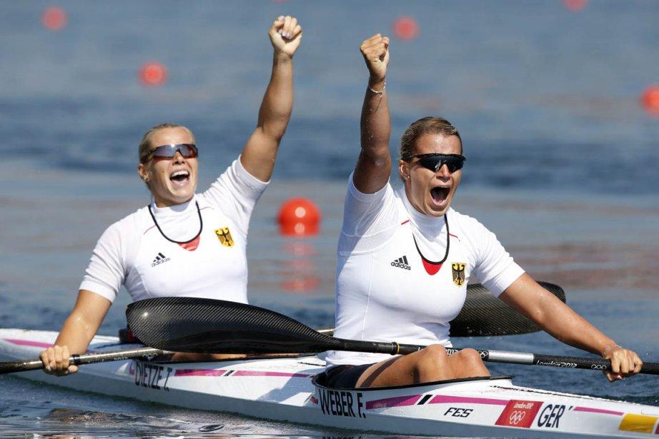 Tina Dietze et Franziska Weber... (Photo : Jim Young, Reuters)