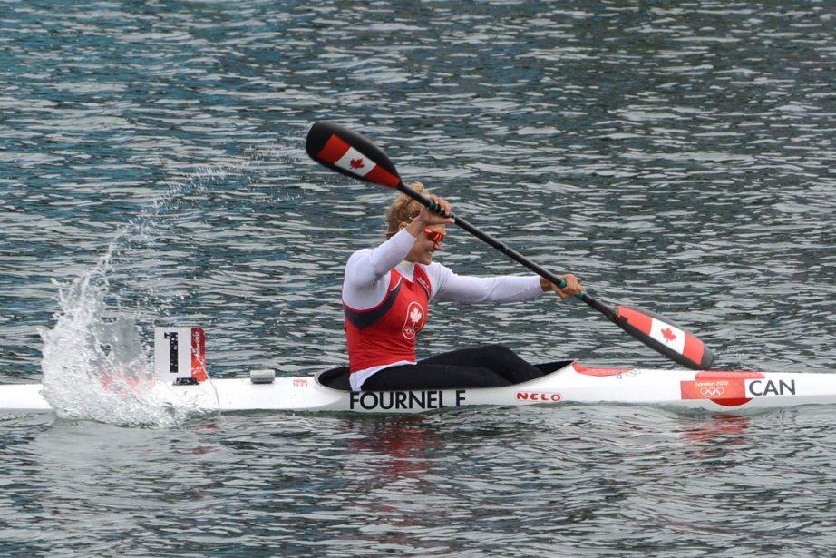 La kayakiste québécoise Émilie Fournel a terminé au sixième rang de la finale B de K-1 500 m. | 9 août 2012