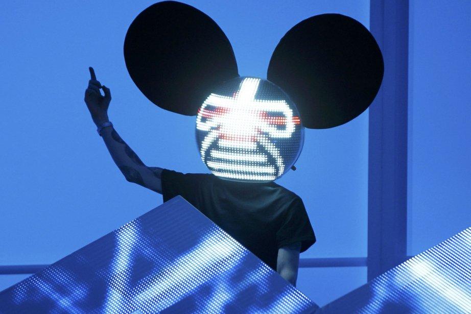 Deadmau5 lors de sa performance aux Grammy Awards... (Photo: Reuters)
