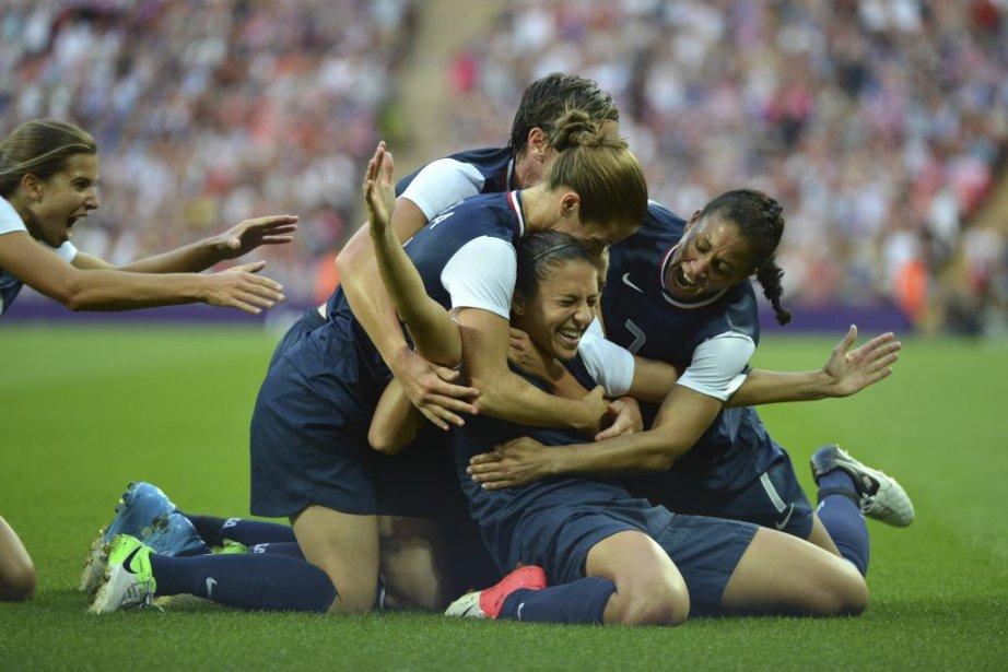L?équipe américaine féminine de soccer a vengé le douloureux échec subi lors de la Coupe du monde de 2011 grâce à un gain de 2-1 en finale contre le Japon. | 9 août 2012