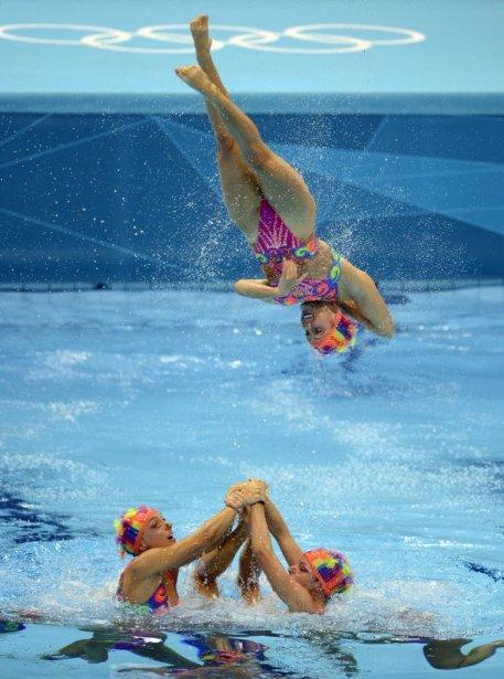 L'équipe canadienne de nage synchronisée a dû se contenter de la quatrième place malgré un programme libre spectaculaire. | 10 août 2012
