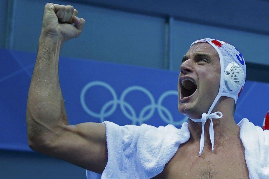 Le Croate Miho Boskovic célèbre la victoire de... (Photo : Laszlo Balogh, Reuters)