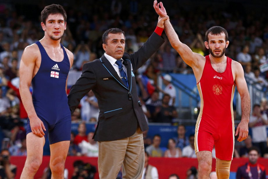Dzhamal Otarsultanov au moment de l'annonce de sa... (Photo : Grigory Dukor, Reuters)