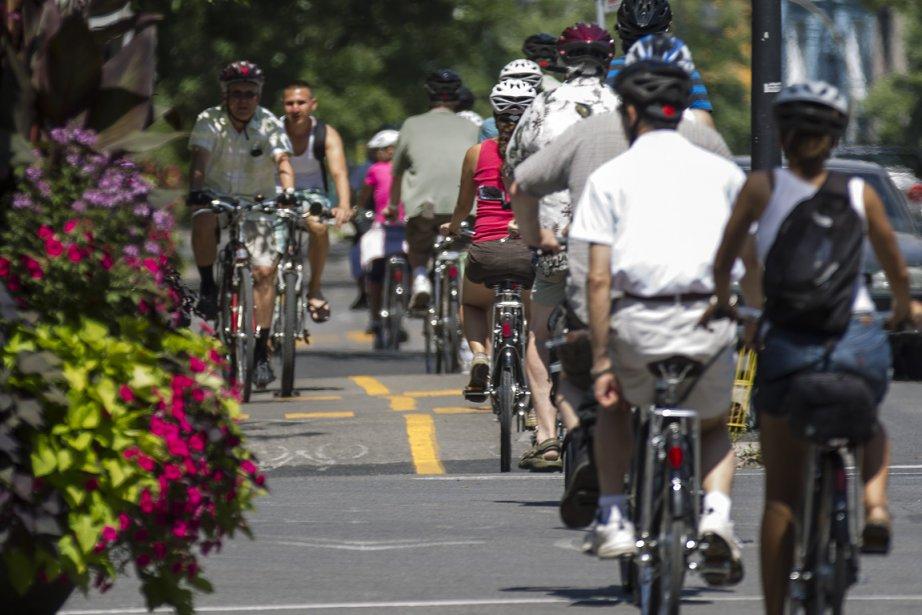 Les pistes cyclables sont tellement populaires que des... (Photo: Olivier PontBriand, La Presse)