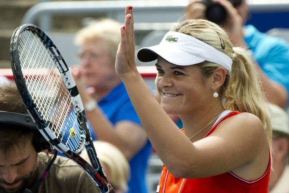 Aleksandra Wozniak accède aux quarts de finale de... (Photo : Paul Chiasson, PC)