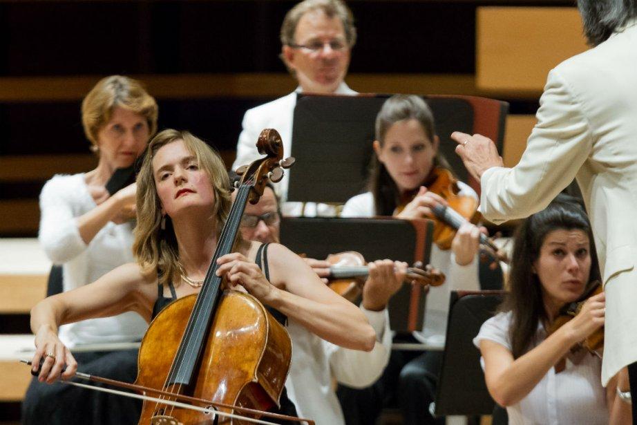 La violoncelliste Tanja Tetzlaff, lors de la Virée... (Photo Édouard Plante-Fréchette, La Presse)