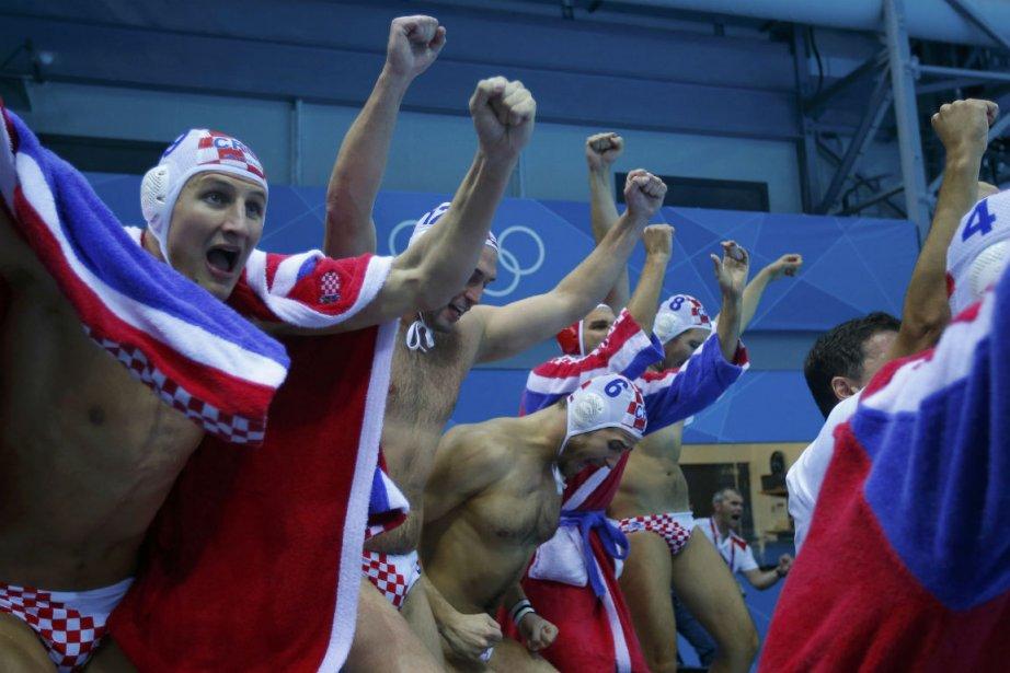 Les joueurs croates célébrant un but de leur... (Photo Laszlo Balogh, Reuters)