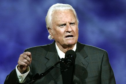 Billy Graham... (Photo: AFP)