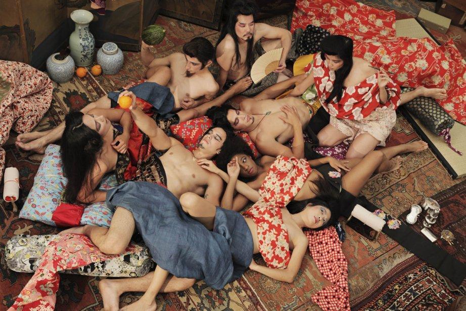 Adad Hannah s'est inspiré d'estampes érotiques japonaises pour... (Photo: fournie par Pierre-François Ouellette Art Contemporain)