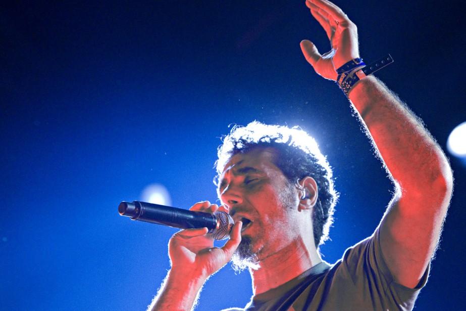 Serj Tankian, chanteur de System of a Down.... (Photo: Alain Décarie, collaboration spéciale)