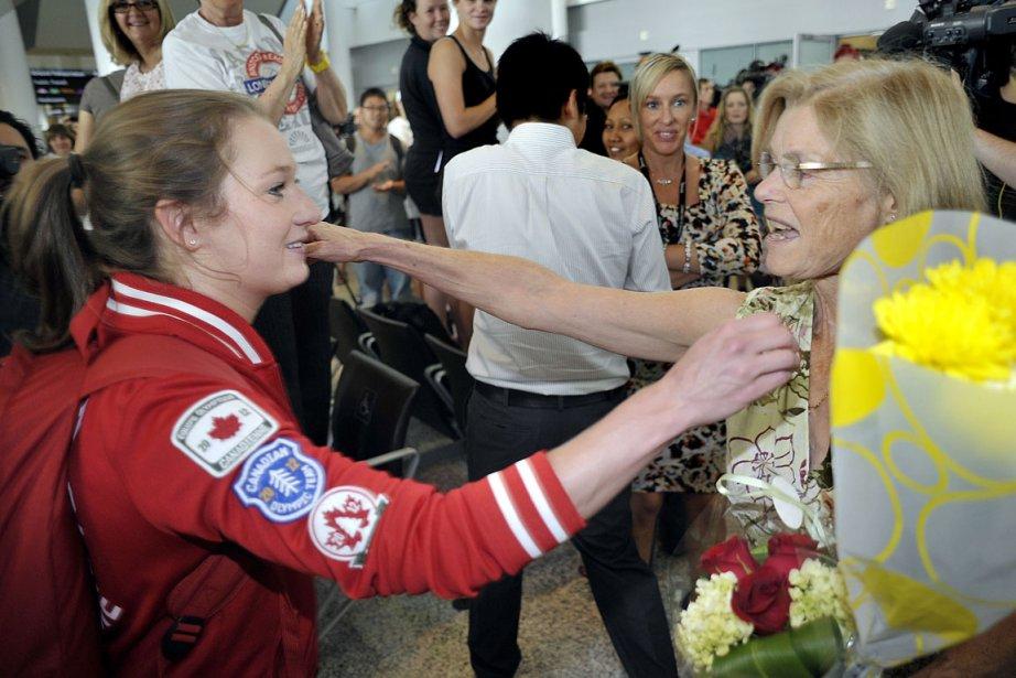 La seule médaillée d'or canadienne aux Jeux olympiques... (La Presse Canadienne)