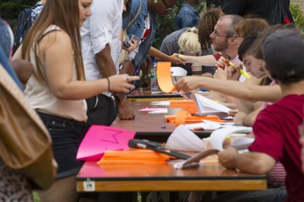 Au cégep Marie-Victorin, ils étaient environ 1600 étudiants... (Photo: Ivanoh Demers, La Presse)