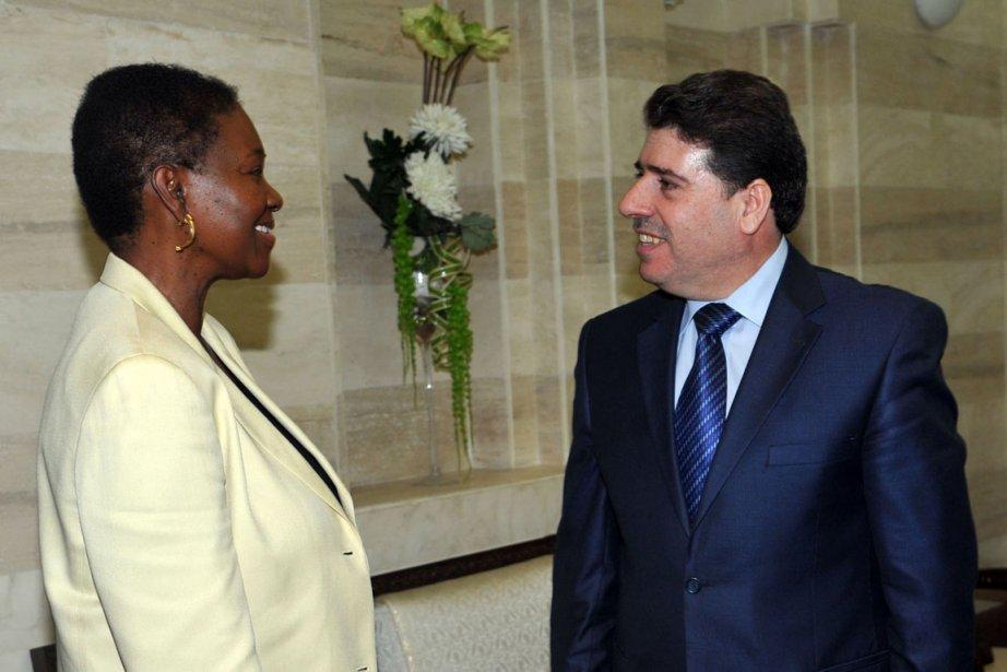 La secrétaire aux affaires humanitaires de l'ONU, Valerie... (Photo AFP)