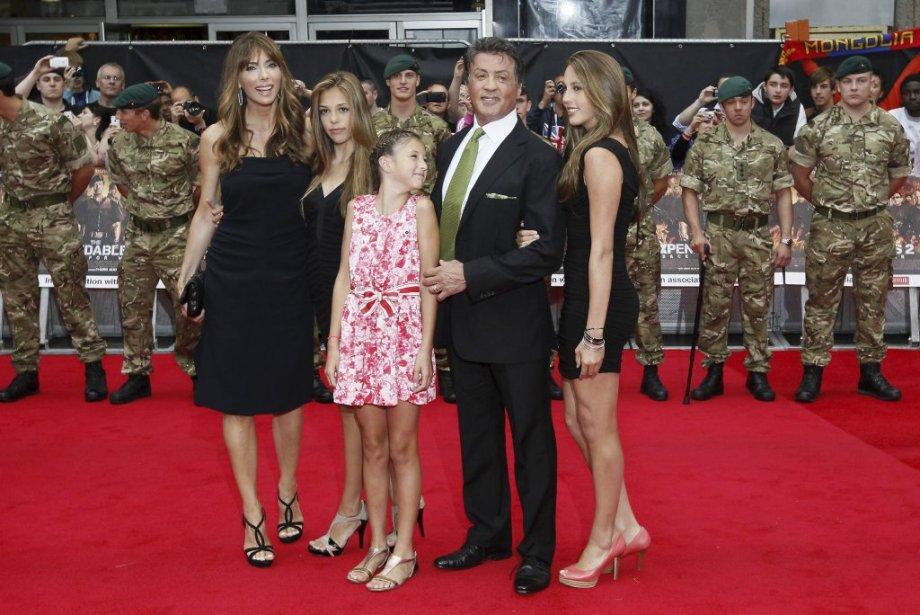 Sylvester Stallone, Jennifer Flavin et ses filles. | 14 août 2012