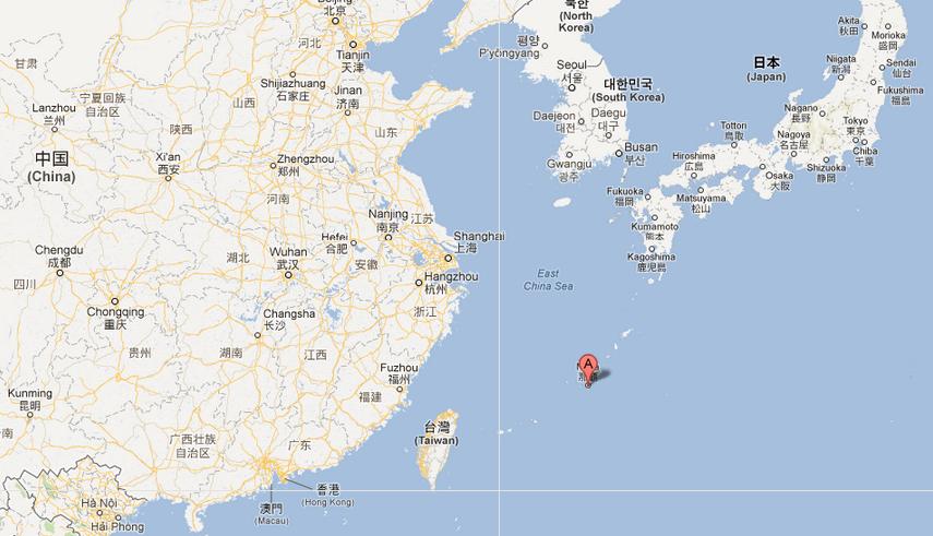 Administrée par le Japon et revendiquée par la... (Carte Google)