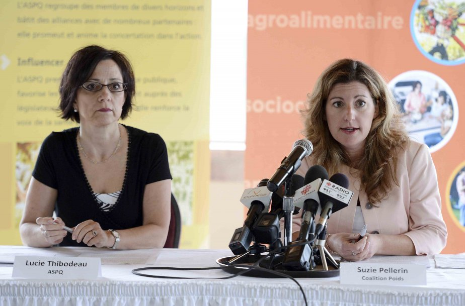 Lucie Thibodeau ASPQ et Suzie Pellerin Coalition Poids... (Jeannot Lévesque)