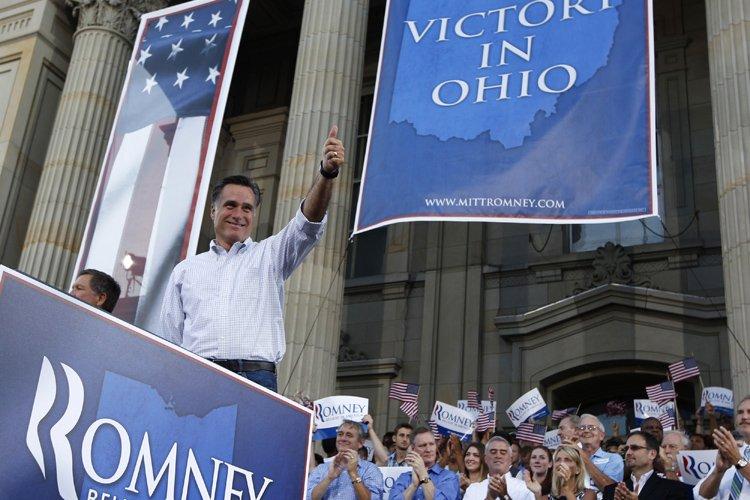 Mitt Romney en campagne en Ohio, mardi.... (Photo: Reuters)