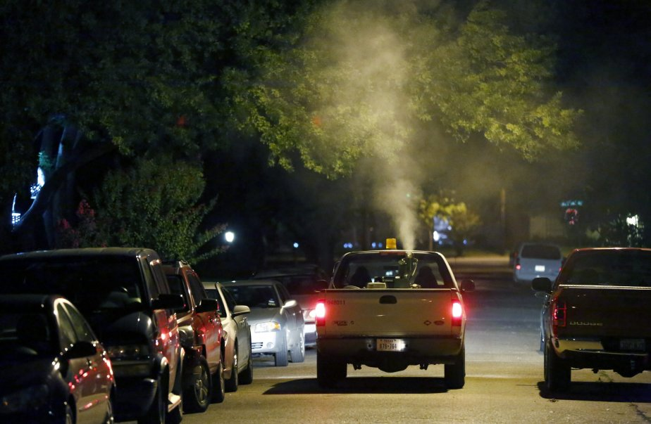 Des quartiers de Dallas ont été aspergés de... (Photo: AP)