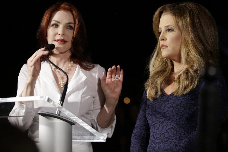 Priscilla Presley et Lisa Marie Presley lors d'une... (Photo: AP)