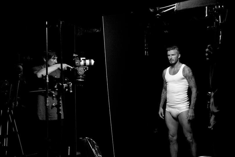 David Beckham posant pour H&M....