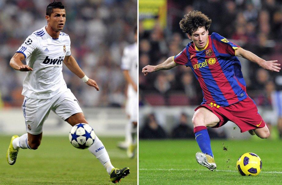 Cristiano Ronaldo et Lionel Messi.... (Photos: Pierre-Philippe Marcou, AFP)