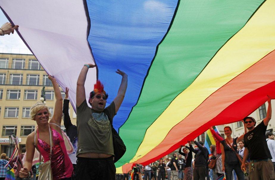 Parade de la fierté gaie, à Prague.... (Photo: AFP (Archives))
