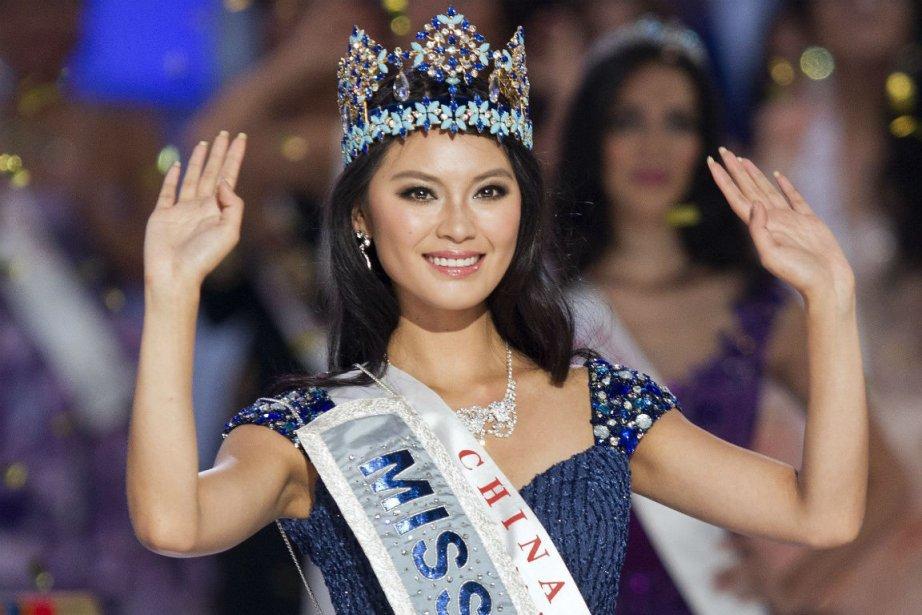 Yu Wenxia, Miss Chine, a remporté le titre... (PHOTO ANDY WONG, AP)