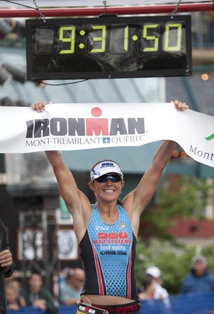 La première femme, Jessie Donovan des États-Unis, a terminé l'épreuve en 09h30 46s. | 19 août 2012