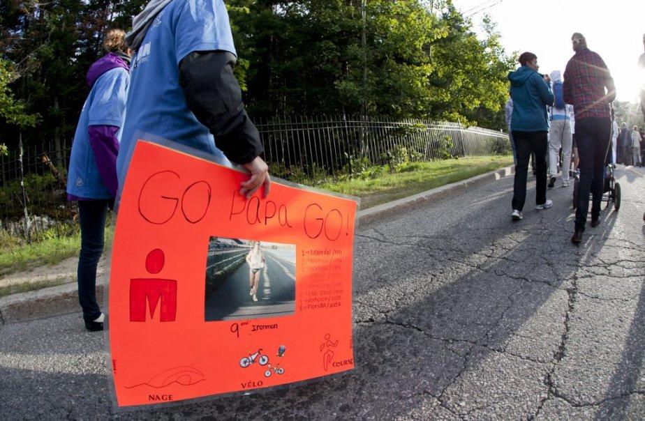 Plusieurs affiches d'encouragement ont ponctué. | 19 août 2012