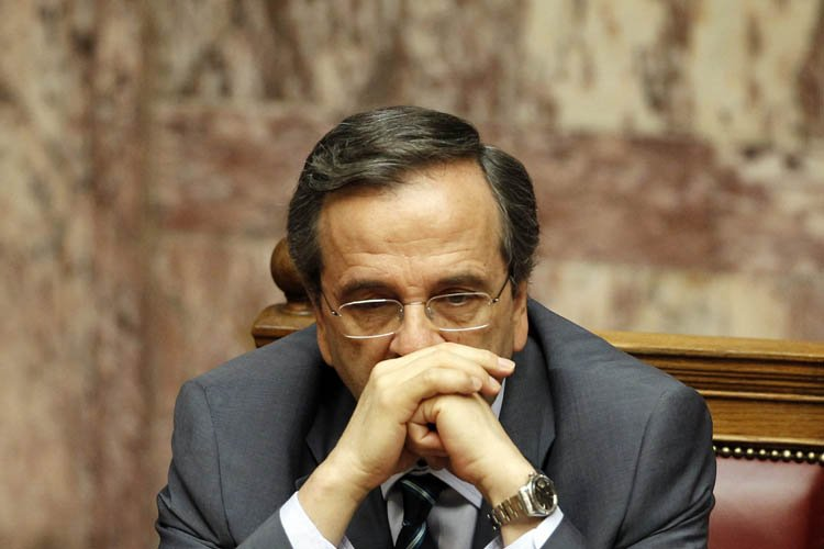 Pour le Premier ministre conservateur grec, Antonis Samaras,l'enjeu... (Photo: AFP)