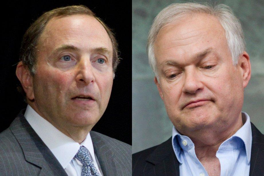 Le commissaire de la LNH, Gary Bettman, et... (Photos : La Presse Canadienne)