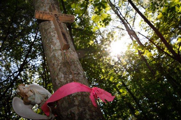 Le bois où le corps de Valérie Leblanc... (Simon-Séguin Bertrand, LeDroit)