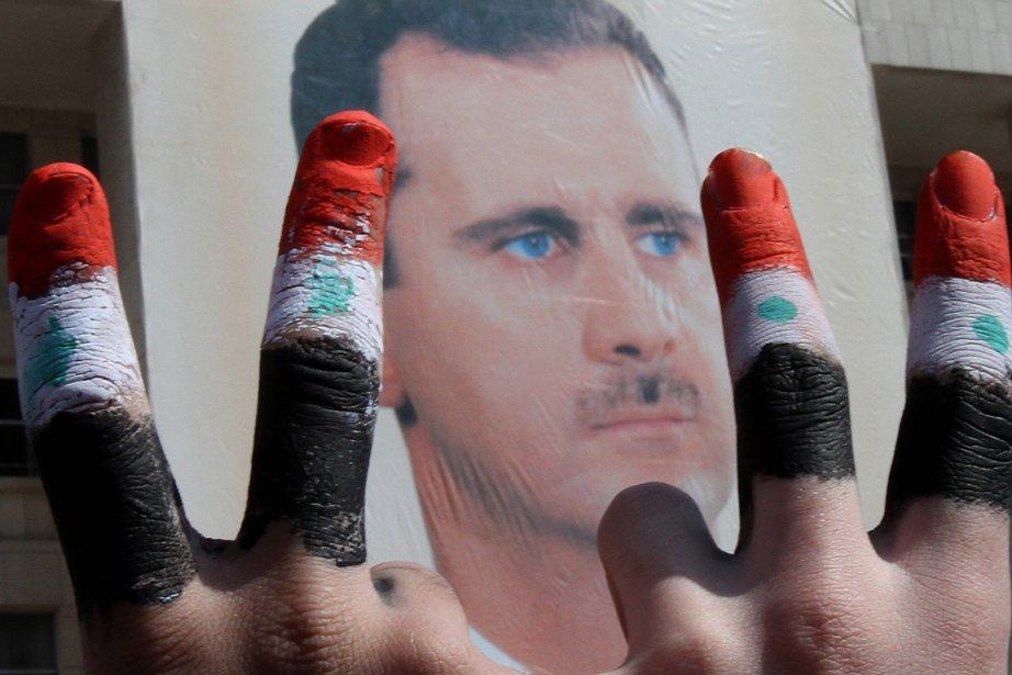 Le président de la Syrie Bachar al-Assad.Près de... (PHOTO ANWAR AMRO, AFP)