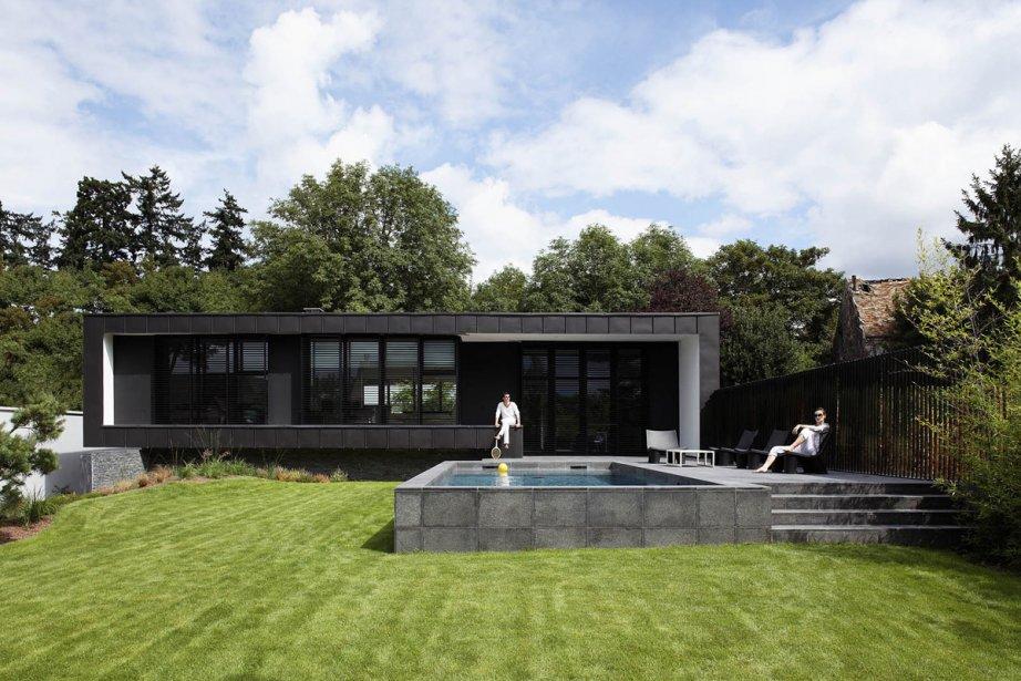 Cette maison d'un seul niveau d'habitation est couverte... (Photo fournie par Lode Architecture)